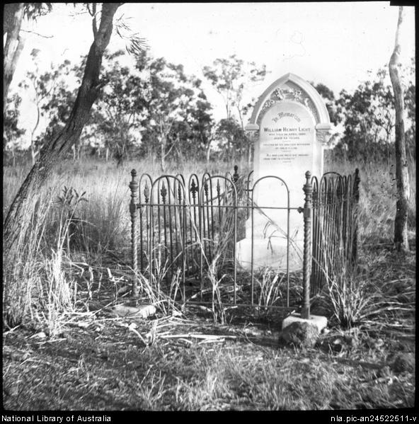 Grave of William Henry Light [transparency] : a lantern slide from John Flynn's missionary days in Gippsland 1906-7