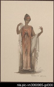 Costume design for the performance of  The return of Ulysses,