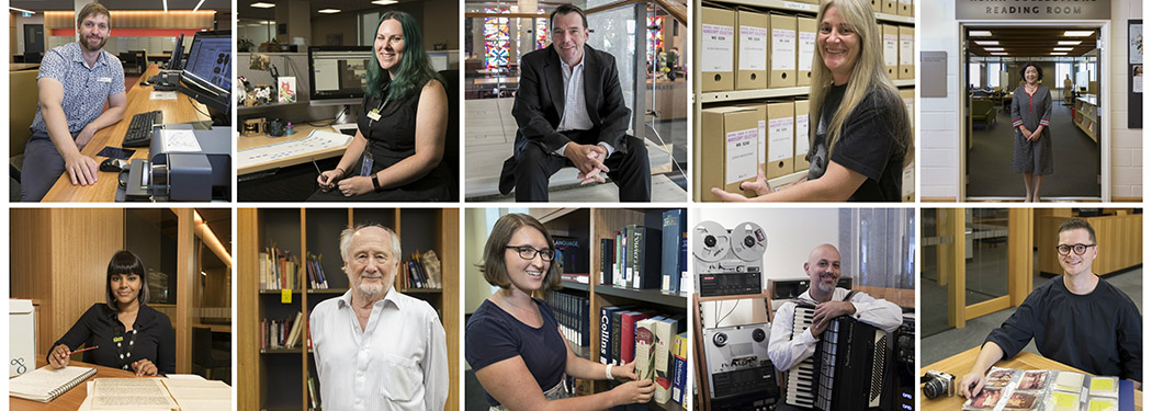 Some of the library users featured on our 50 People of the NLA Instagram account