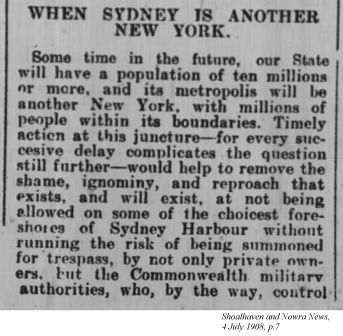 Shoalhaven and Nowra News, 4 July 1908