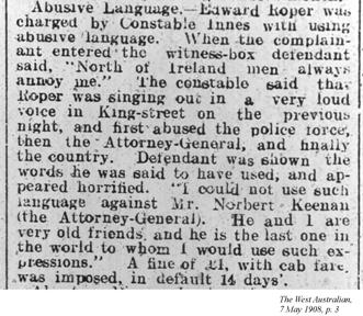 Abusive Language, The West Australian, 7 May 1908