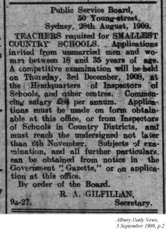 Albury Daily News, 5 September 1908