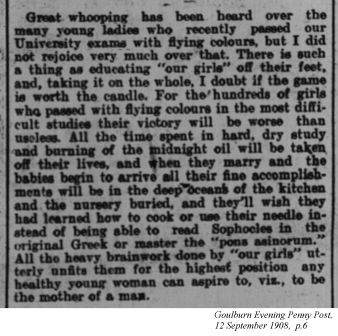 Goulburn Evening Penny Post, 12 September 1908
