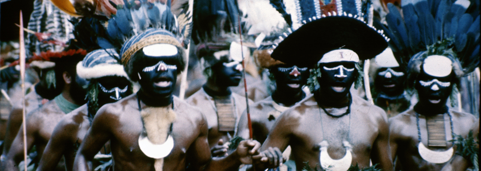 A group of men performing a traditional dance