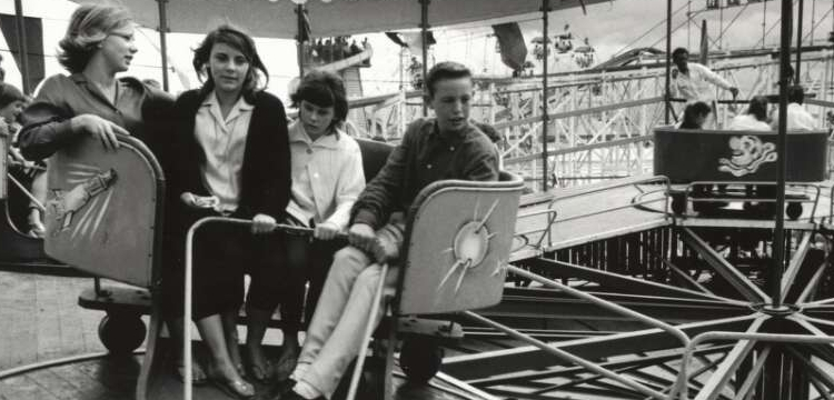 Young people on a ride at the Easter show