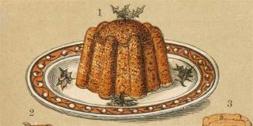 Image of a Christmas Pudding from The English and Australian cookery book : cookery for the many, as well as for the upper ten thousand, 1864