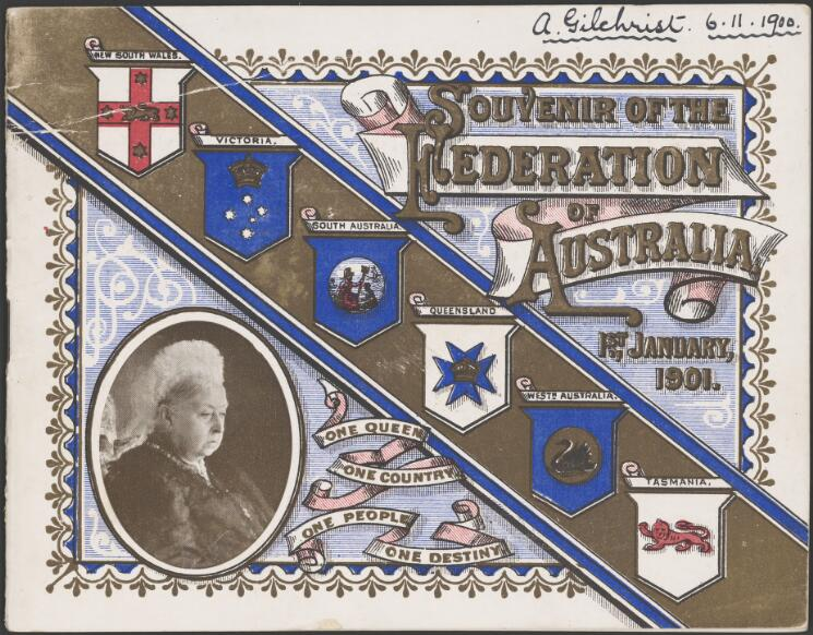 Souvenir of the federation of Australia, 1st January, 1901