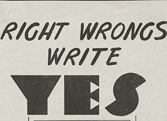 Referendum flyer 1967-Right wrongs write YES for Aborigines
