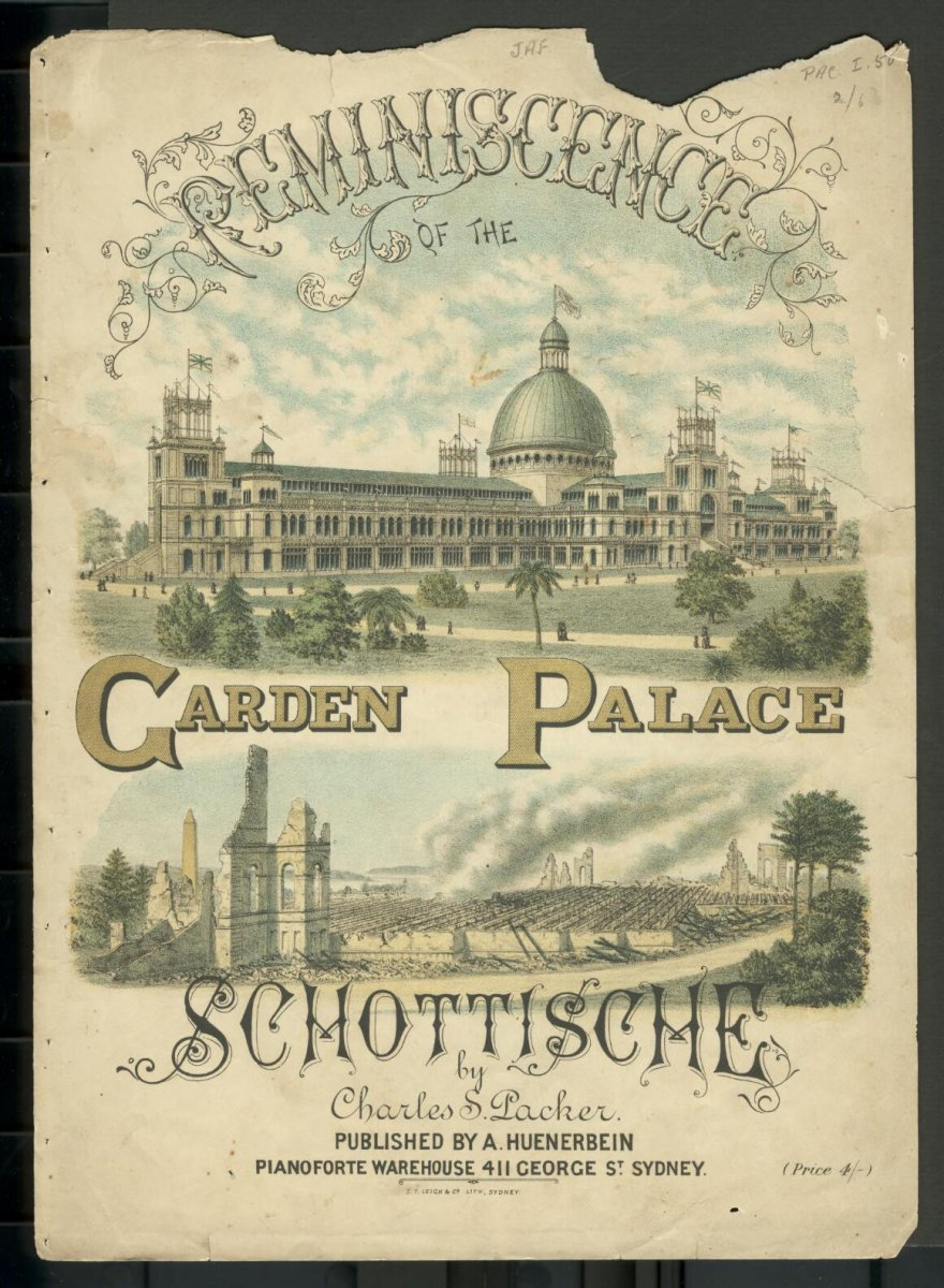 Packer, Charles Sandys. & S. Leigh & Co.  ([188-]).  Reminiscence of the garden palace schottische.