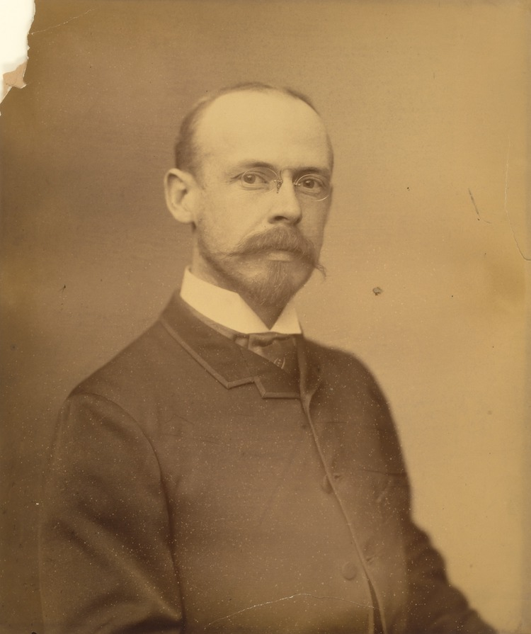 a sepia portrait of Frank Wilbert Stokes