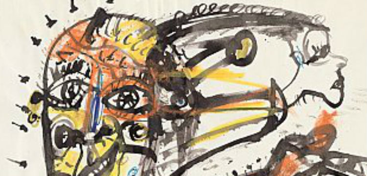 Artwork from Salute to Five Bells: John Olsen's Opera House Journal