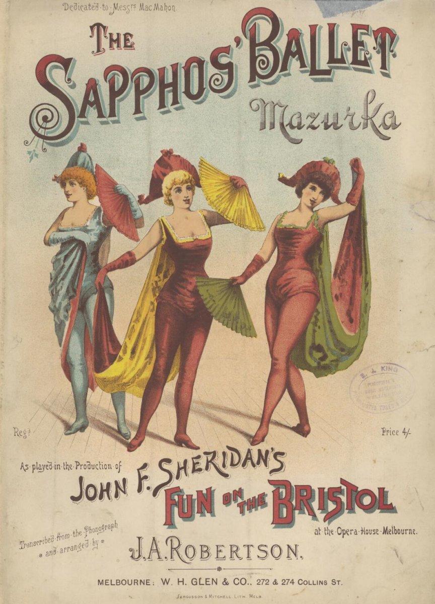 Robertson, J. A.  ([188-?]).  The sapphos' ballet mazurka.