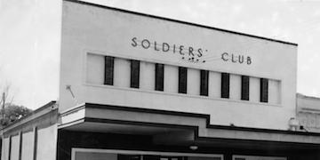 Photograph of a soldier's club