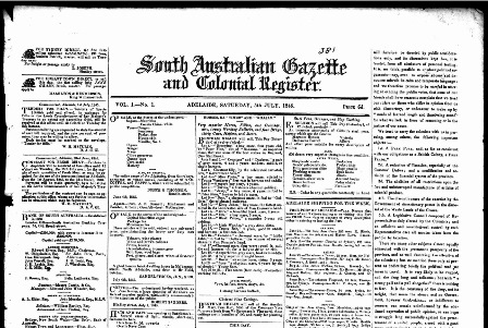 South Australian Gazette and Colonial Register (1836-1839)