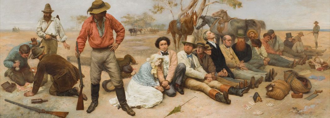WIlliam Strutt's oil painting Bushrangers