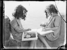 Image of two girls reading