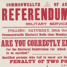Referendum, 1916 (military service) : are you correctly enrolled for the electoral subdivision for which you are entitled to be enrolled? / J.G. McLaren