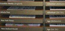 Overseas newspaper drawers