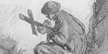 Sketch of soldier
