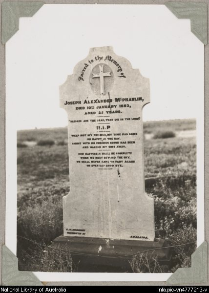 The grave of Joseph Alexander McPharlin, between Finke and New Crown Station, Northern Territory, ca. 1946