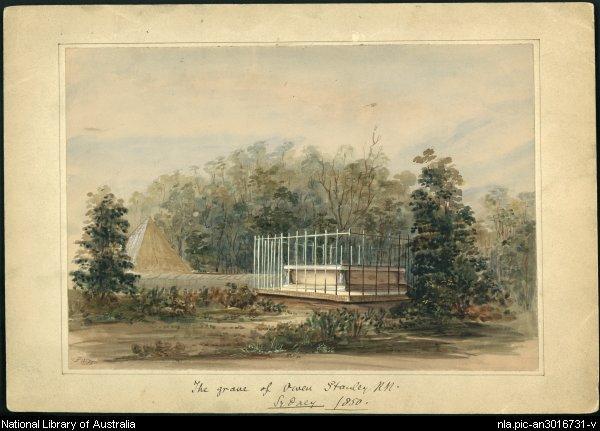 The grave of Owen Stanley RN Sydney 1850