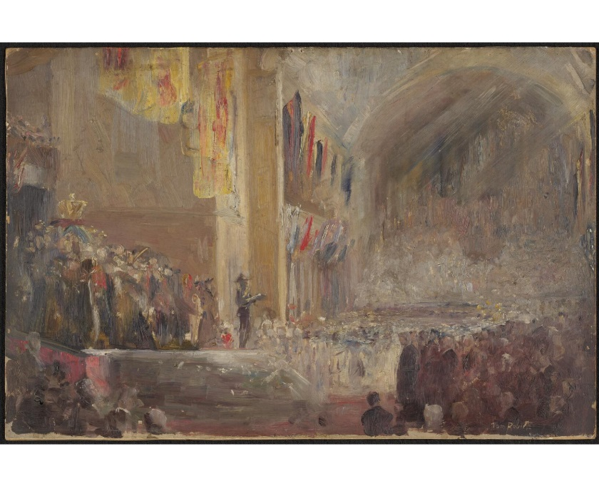 Sketch for opening of Federal Parliament, 1901 by Tom Roberts