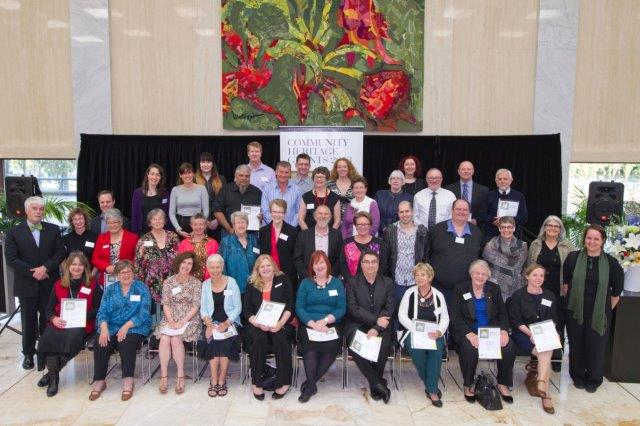 group photo of the 2013 recipients