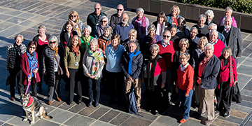 Group photo of volunteers of the National Library of Australia