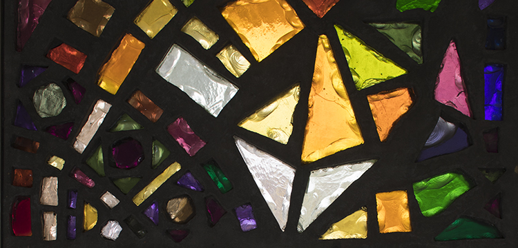 detail of Leonard French chunk glass window