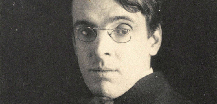Black and white photograph of WB Yeats, 1903