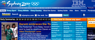 Blue olympic website