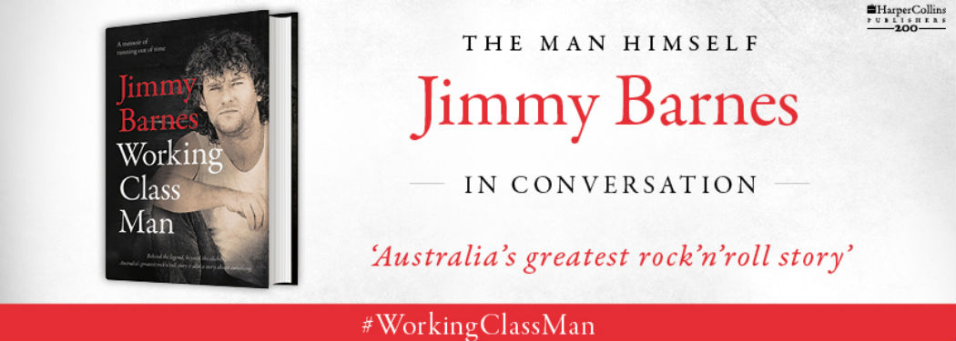 Advertisement for Jimmy Barnes' book Working Class Man